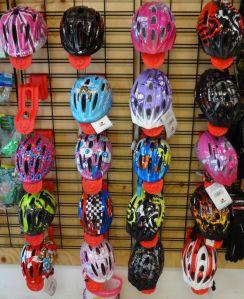 Kids helmet stand